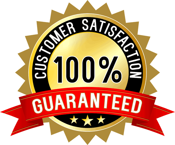 100 percent customer satisfaction guarantee